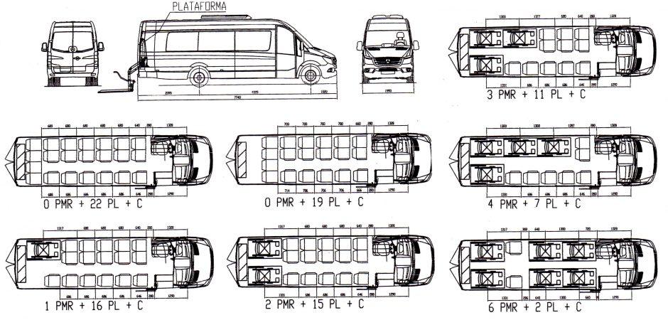 Plazas microbus adaptado PMR